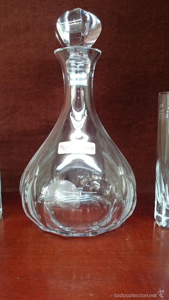 Vintage: Juego de botella y 6 vasos de cristal - Foto 3 - 56702089
