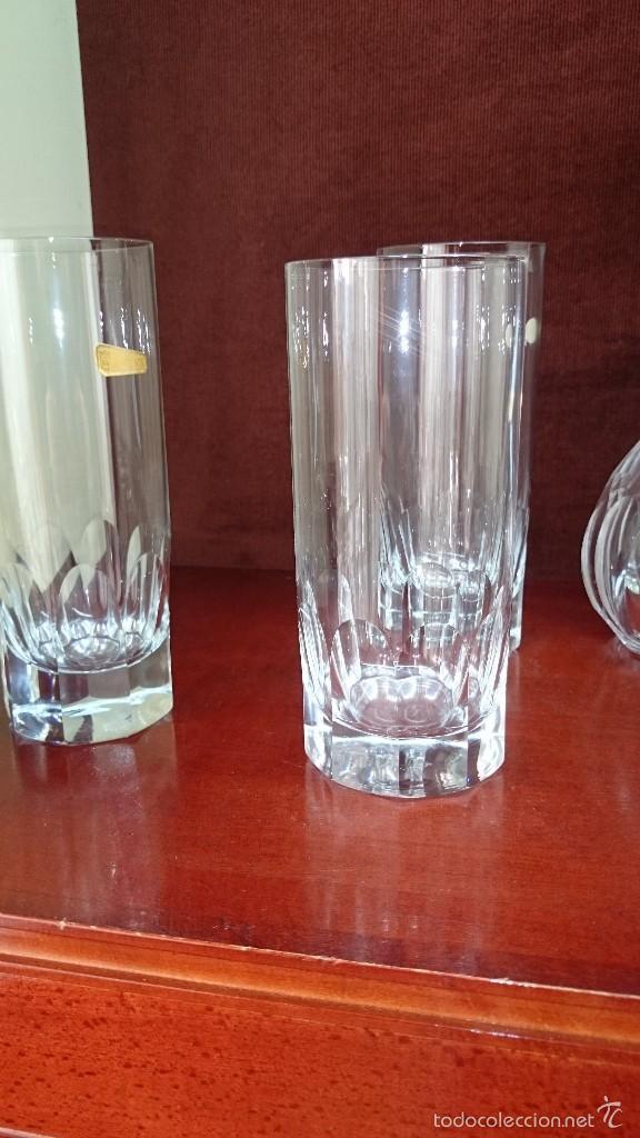 Vintage: Juego de botella y 6 vasos de cristal - Foto 5 - 56702089