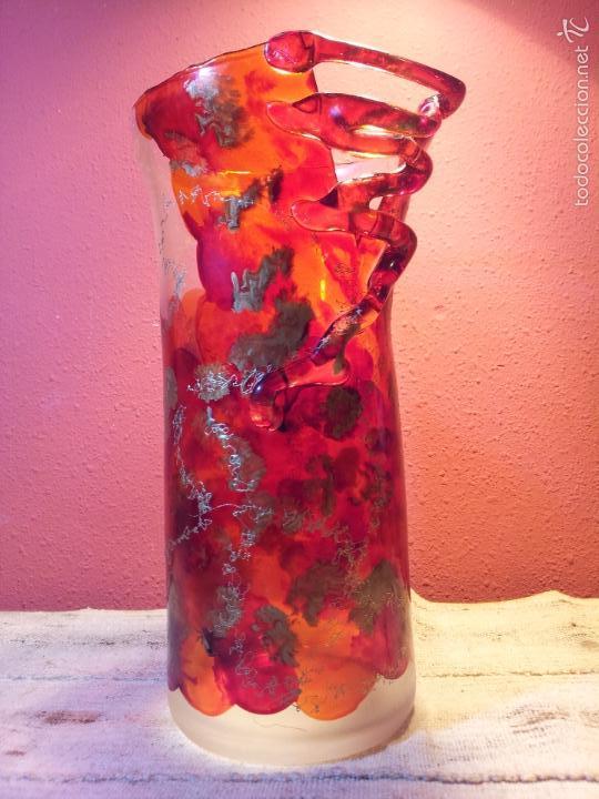 Vintage: precioso jarron cristal murano soplado pop-art años 60-70 - Foto 2 - 56712245