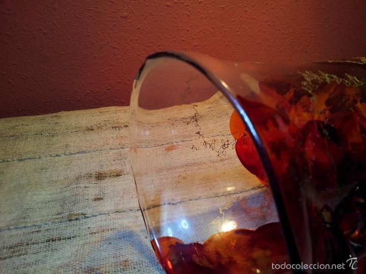 Vintage: precioso jarron cristal murano soplado pop-art años 60-70 - Foto 6 - 56712245