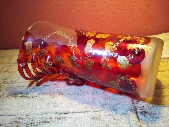 Vintage: precioso jarron cristal murano soplado pop-art años 60-70 - Foto 7 - 56712245