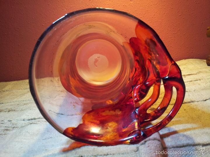 Vintage: precioso jarron cristal murano soplado pop-art años 60-70 - Foto 13 - 56712245