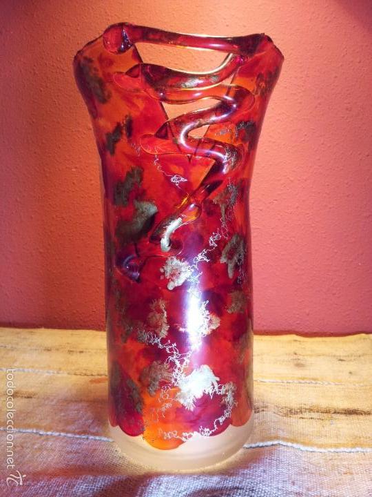 Vintage: precioso jarron cristal murano soplado pop-art años 60-70 - Foto 16 - 56712245