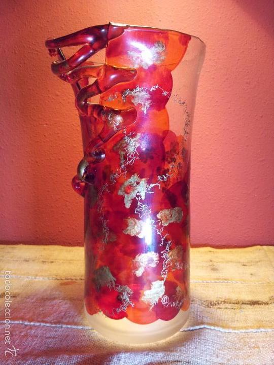 Vintage: precioso jarron cristal murano soplado pop-art años 60-70 - Foto 17 - 56712245