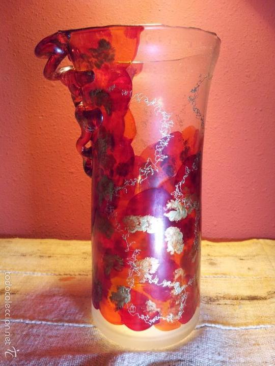 Vintage: precioso jarron cristal murano soplado pop-art años 60-70 - Foto 18 - 56712245