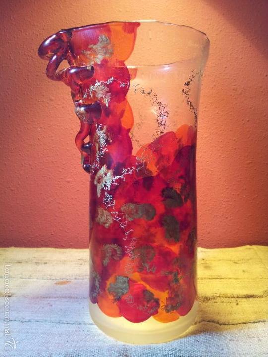 Vintage: precioso jarron cristal murano soplado pop-art años 60-70 - Foto 19 - 56712245