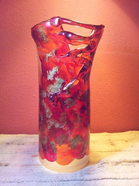 Vintage: precioso jarron cristal murano soplado pop-art años 60-70 - Foto 24 - 56712245
