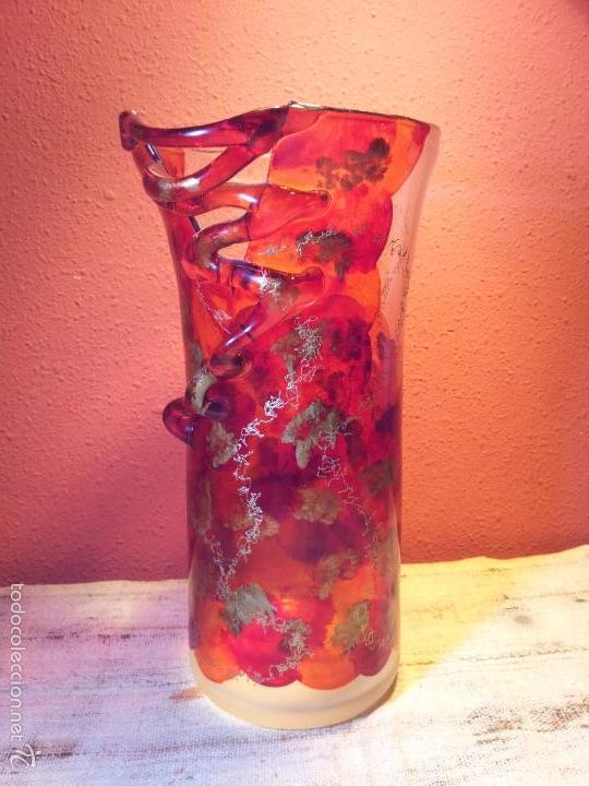 Vintage: precioso jarron cristal murano soplado pop-art años 60-70 - Foto 26 - 56712245