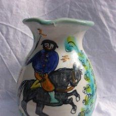 Vintage: JARRA DE CERÁMICA SANTA FE PUENTE DEL ARZOBISPO PUBL. RESTAURANTE BOTÍN 1725. Lote 56856581