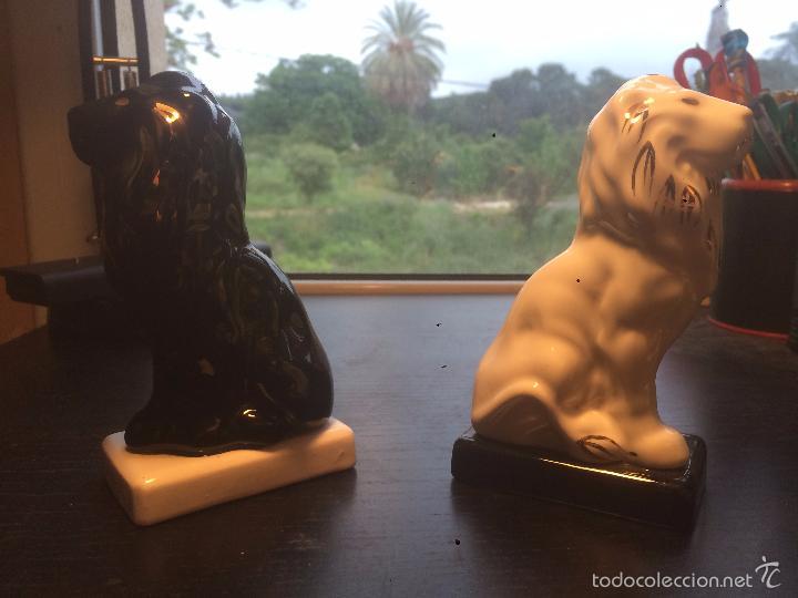 Vintage: Antiguas figuras de porcelana de leones, antiguo león - Foto 2 - 56872826