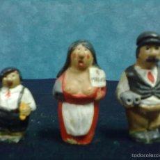Vintage: FIGURAS FAMILIA MAFIOSOS BARRO ¿ALBOROX?. Lote 56895977