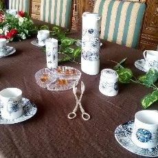 Vintage: JUEGO COMPLETO CAFE BIDASOA VINTAGE AZUL. Lote 57147737