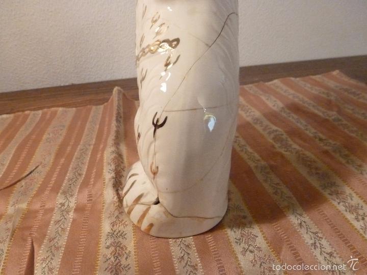 Vintage: gato Perro de cerámica de Straffordshire.Roto.S XIX-XX. - Foto 3 - 57180509