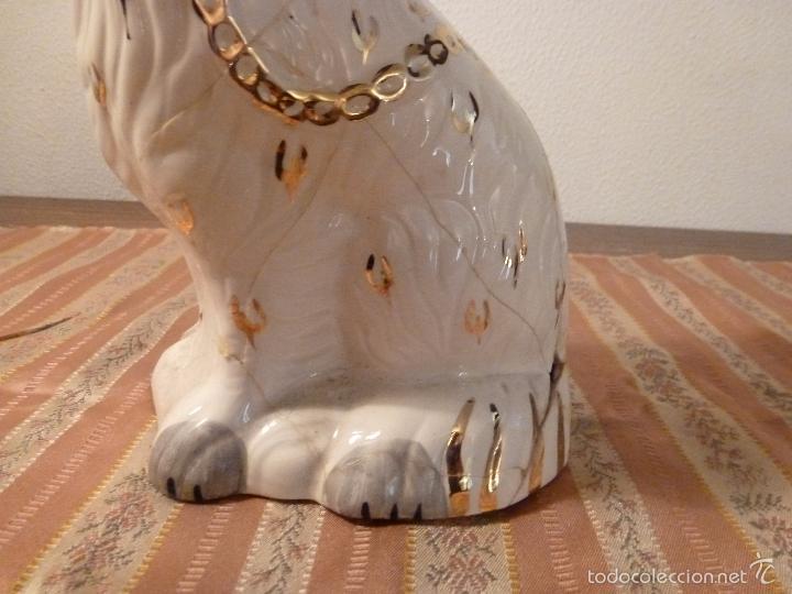 Vintage: gato Perro de cerámica de Straffordshire.Roto.S XIX-XX. - Foto 10 - 57180509