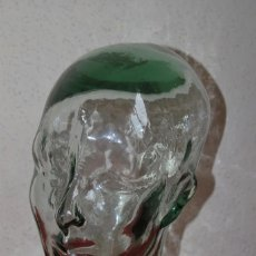 Vintage: CABEZA DE CRISTAL - VIDRIO - AÑOS 60-70 - EXPOSITOR - SOMBRERERO - SOMBRERERA. Lote 57280786