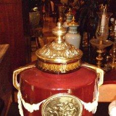 Vintage: JARRON PORCELANA GRANATE. Lote 57299546