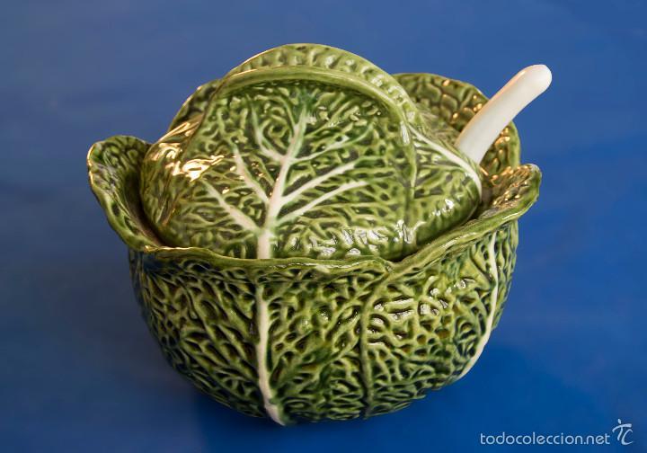 Sopera portuguesa con forma repollo o col cald comprar Ceramica portuguesa online