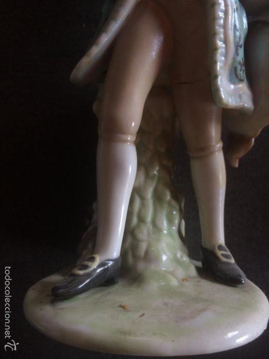 Vintage: FIGURA DE CABALLERO -- CERAMICA - Foto 2 - 57358573