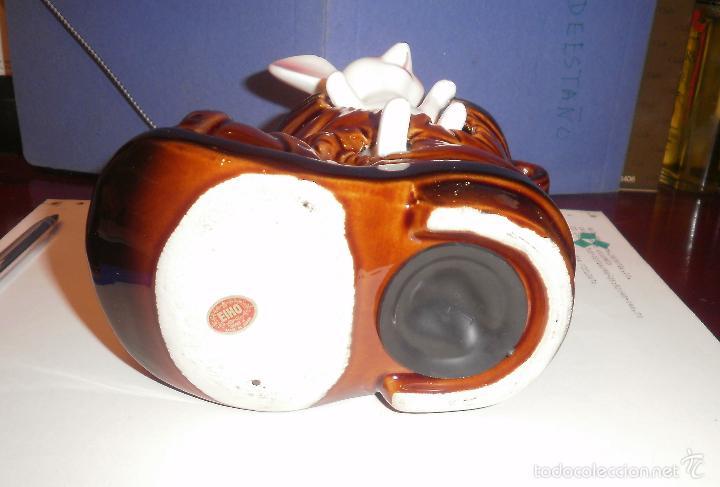 Vintage: Decoración vintage. Figura de porcelana, Hucha ratón en bota, EIHO (Japón). Buen estado, años 70 - Foto 2 - 202038241