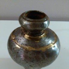 Vintage: JARRÓN DE METAL. PLATEADO Y DORADO. Lote 57740841