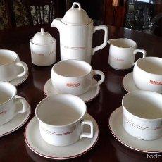 Vintage: JUEGO DE DESAYUNO DE PAN RECONDO. CAFETERA, LECHERA, AZUCARERO, 3 TAZAS Y 3 TAZONES CON PLATOS.. Lote 57940264