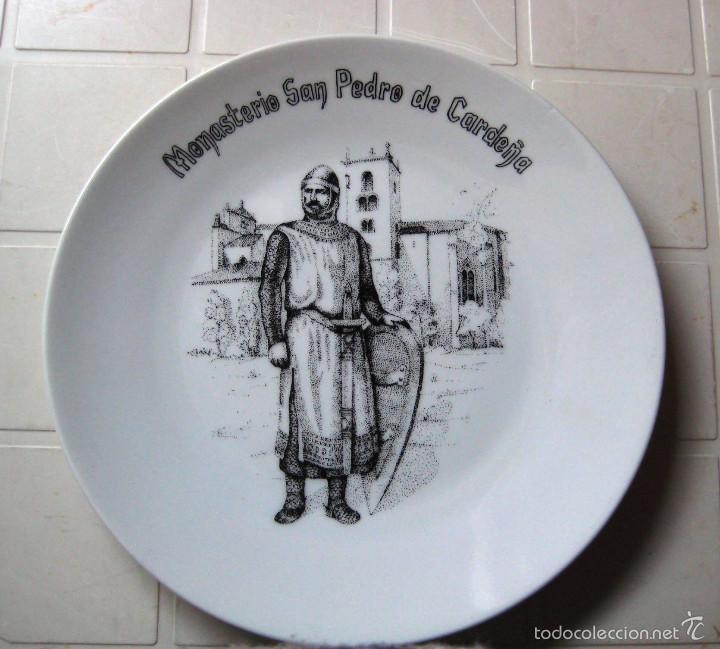 PLATO DE CERÁMICA DEL MONASTERIO SAN PEDRO DE CARDEÑA- BURGOS- (Vintage - Decoración - Porcelanas y Cerámicas)