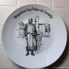 Vintage: PLATO DE CERÁMICA DEL MONASTERIO SAN PEDRO DE CARDEÑA- BURGOS-. Lote 58216897