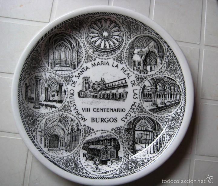 PLATO CERÁMICA MONASTERIO DE LAS HUELGAS- BURGOS- (Vintage - Decoración - Porcelanas y Cerámicas)