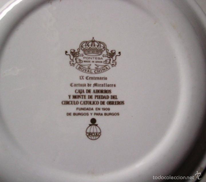 Vintage: Plato cerámica IX Centenario Cartuja de Miraflores- Burgos- - Foto 2 - 58217057