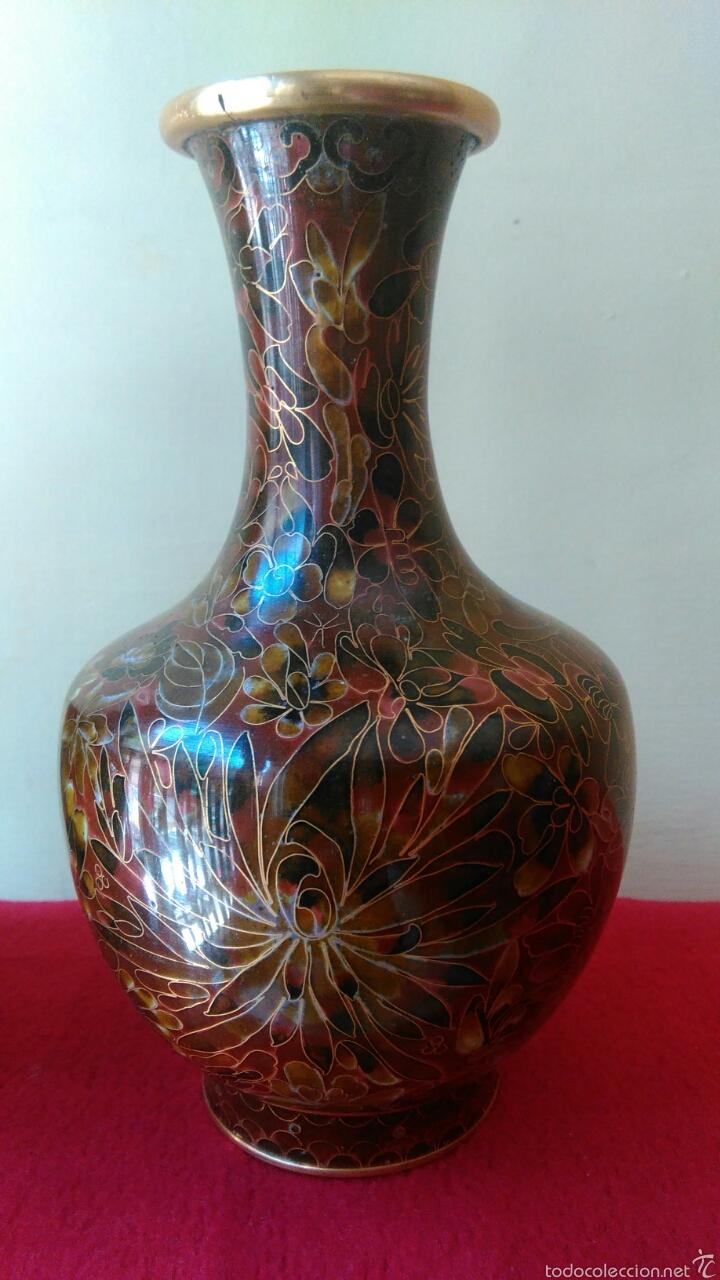 Vintage: Pareja de jarrones chinos cloisine - Foto 3 - 58240847
