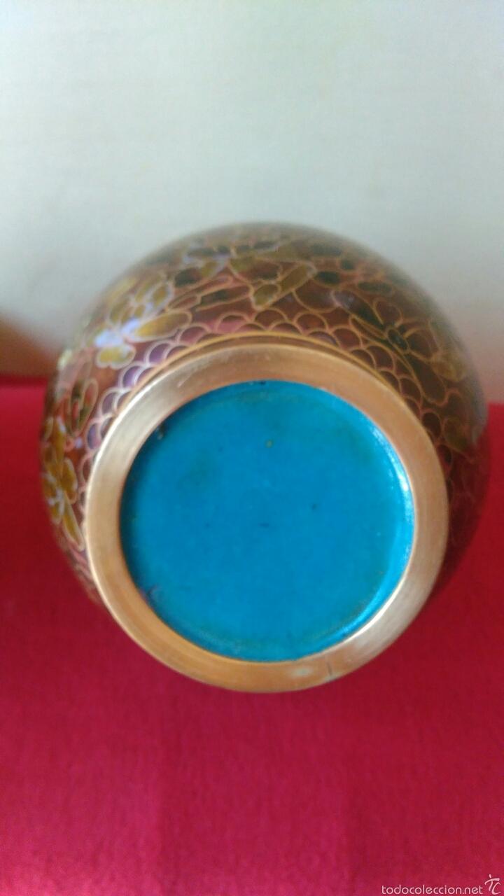 Vintage: Pareja de jarrones chinos cloisine - Foto 6 - 58240847
