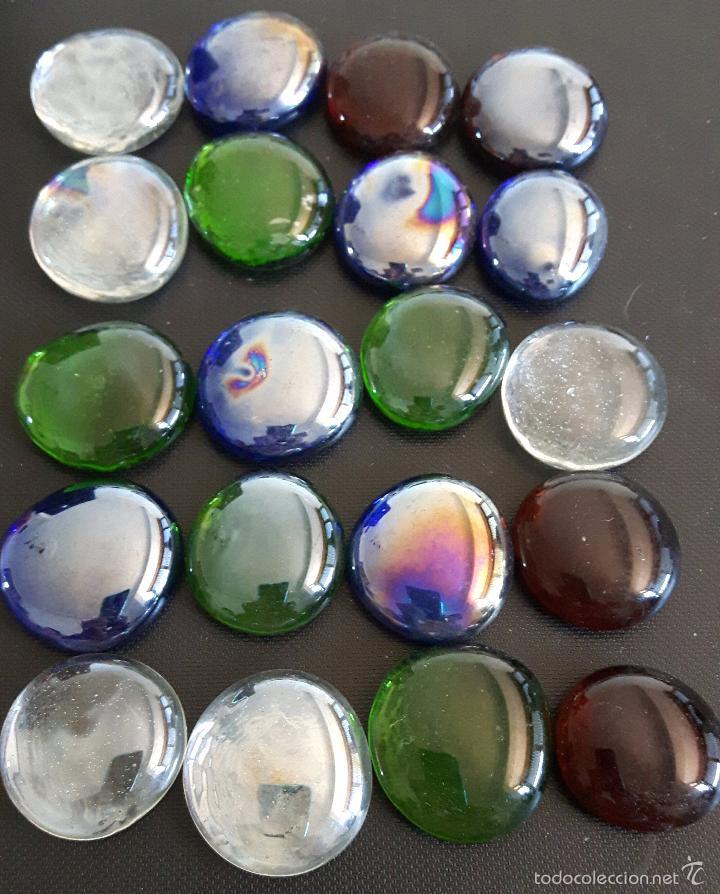 conjunto de veinte piedras de cristal tornasolado para decoracin buen estado vintage decoracin