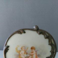 Vintage: PORCELALA ESMALTADA CON ANGELES. Lote 58262782
