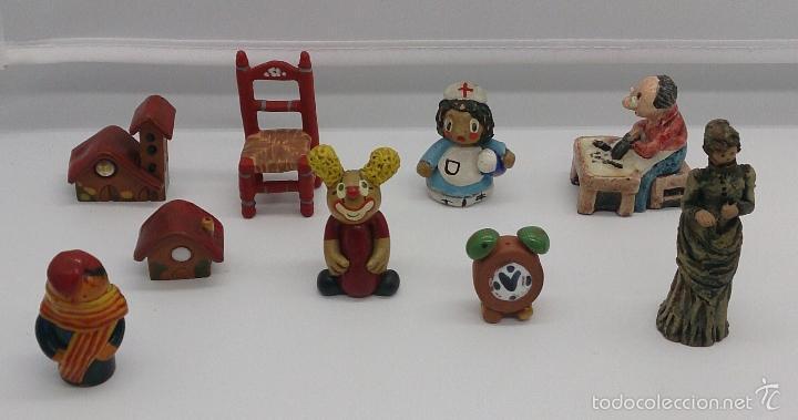 Vintage: Colección de miniaturas antiguas en terracota , hechas y pintadas a mano, años 60 . - Foto 10 - 58385877
