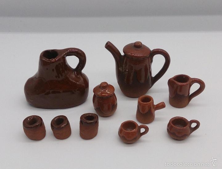 Juego antiguo de utiles para la cocina en minia comprar for Utiles de cocina