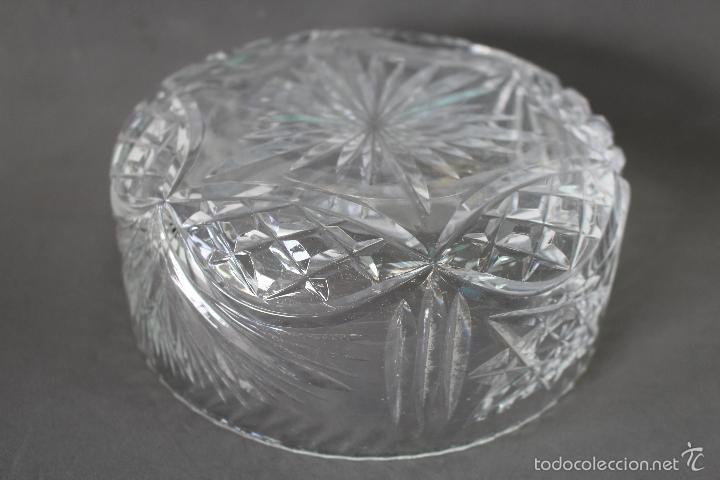 Vintage: centro, frutero en cristal tallado - Foto 2 - 58451564