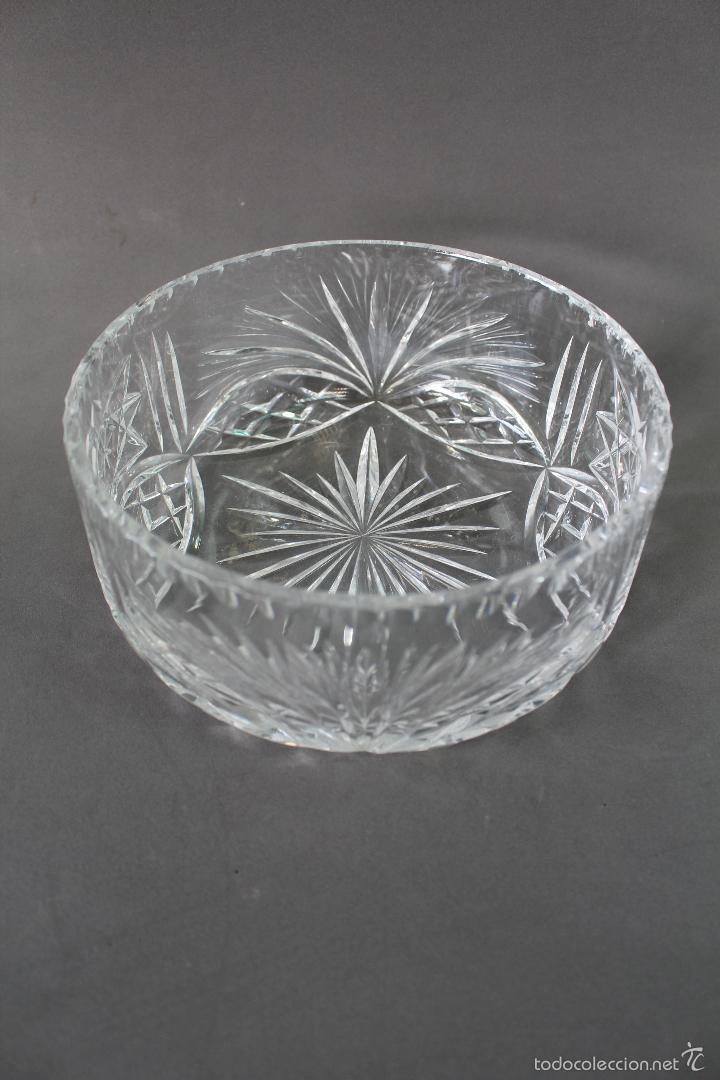 Vintage: centro, frutero en cristal tallado - Foto 4 - 58451564