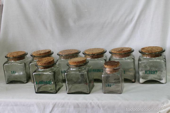 9 tarros de cristal con tapadera de corcho comprar for Tarros de cristal vintage