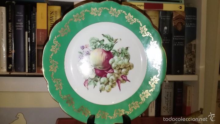 CONJUNTO DE 2 PLATOS BIDASOA PINTADOS (Vintage - Decoración - Porcelanas y Cerámicas)