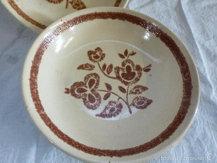 Vintage: Pareja de platos decortivos, en cerámica tipo gres. - Foto 2 - 61505899