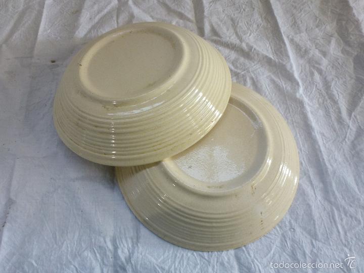 Vintage: Pareja de platos decortivos, en cerámica tipo gres. - Foto 3 - 61505899