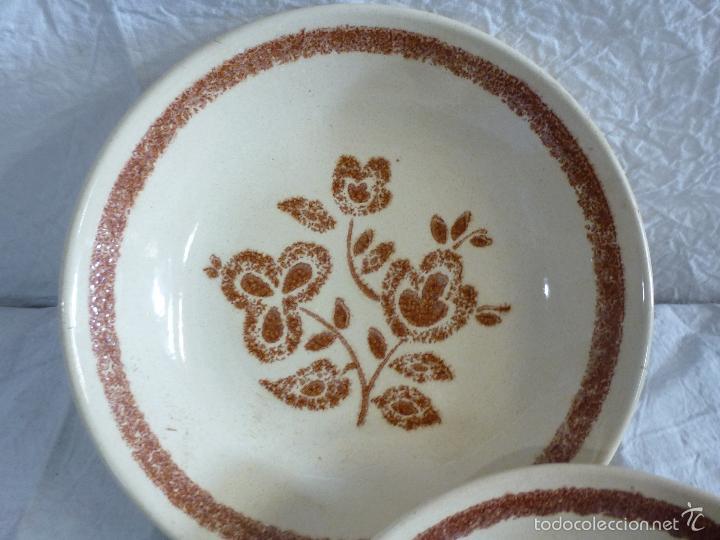 Vintage: Pareja de platos decortivos, en cerámica tipo gres. - Foto 4 - 61505899