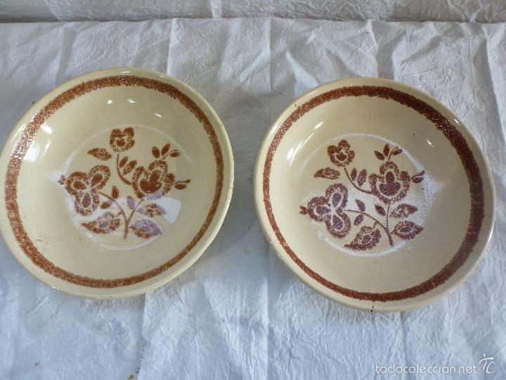 Vintage: Pareja de platos decortivos, en cerámica tipo gres. - Foto 5 - 61505899