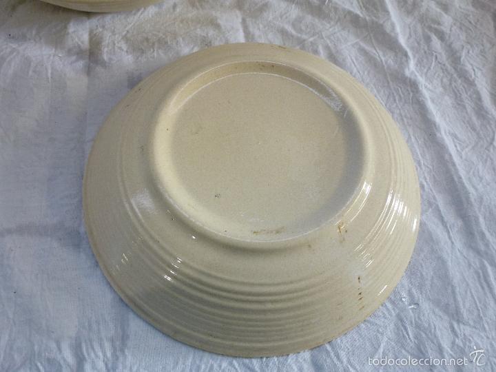 Vintage: Pareja de platos decortivos, en cerámica tipo gres. - Foto 6 - 61505899