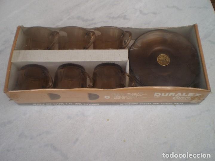 TAZAS Y PLATOS CAFÉ DURALEX ONDAS (Vintage - Decoración - Cristal y Vidrio)