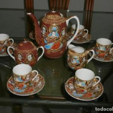 Vintage: JUEGO CAFE PORCELANA CHINA 6 SERVICIOS, LECHERA AZUCARERO, CAFETERA.¡¡OFERTA¡¡. Lote 62145036