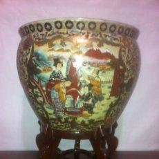 Vintage: JARDINERA/FLORERO PORCELANA CHINA SATSUMA. Lote 62910540