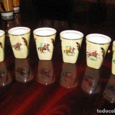 Vintage - lote de seis vasitos porcelana - 64157223