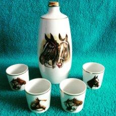 Vintage - Licorera y vasitos porcelana vintage - 64166319
