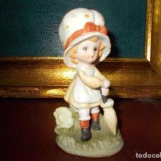 Vintage - Figura niña fina porcelana - 64596551